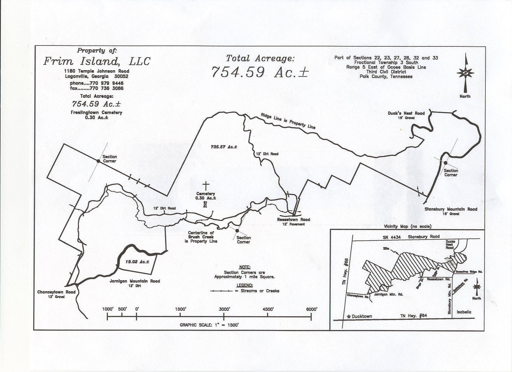 Polk County Tennessee Land For Sale in Ducktown TN 754 Acre Tract